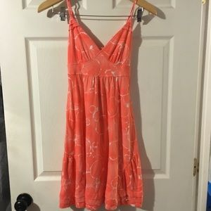 XS American Eagle orange water color dress